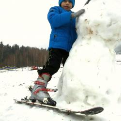 5 - Stoję na nartach!!!